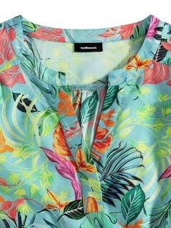 Viskose-Bluse Karibikflair Aqua Detail 3