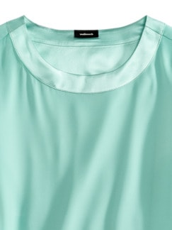 Seiden-Shirtbluse Edel-Basic Aqua Detail 3