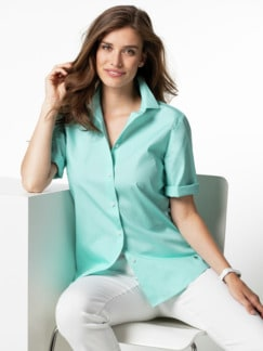 Extraglatt-Hemdbluse Everyday Uni Mint Detail 1