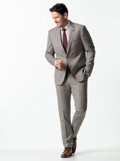 Glencheck Anzug Super 130 Greige Kariert