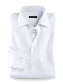 Extraglatt-Hemd Kent Weiß Detail 1