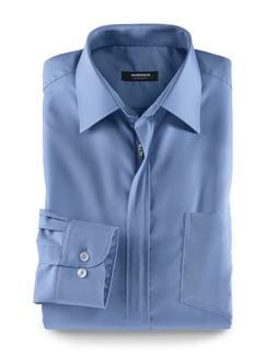 Extraglatt-Hemd Reißverschluss Azur Detail 1
