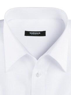 Extraglatt-Hemd Walbusch-Kragen Weiß Detail 4