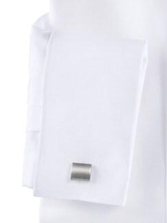 Extraglatt-Hemd Umschlagmanschette Weiß Detail 4