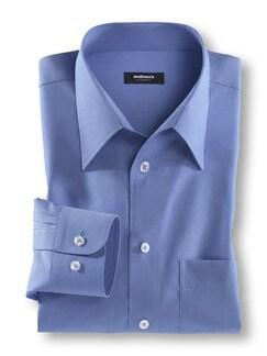 Extraglatt-Hemd Walbusch-Kragen Azur gestreift Detail 1