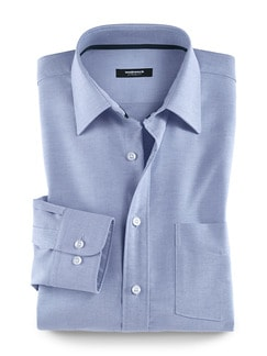 Extraglatt-Hemd Oxford Blau Detail 1