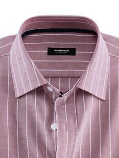 Extraglatt-Hemd Oxford Streifen Rot Detail 4