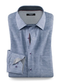 Struktur-Hemd Smart Casual Blau Detail 1