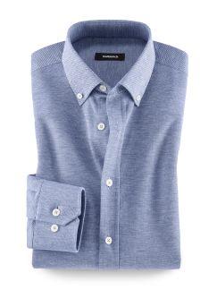 Pique-Hemd T-Shirt-Komfort Blau Detail 1