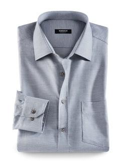 Extraglatt-Hemd Melange Grau Detail 1
