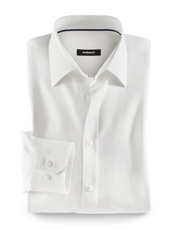 25 Grad-Leinenhemd Offwhite Detail 1