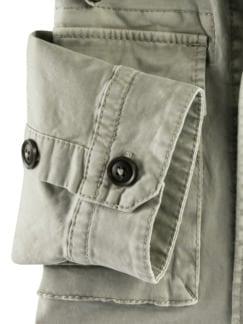 Hemdjacke Garment Dyed Beige Detail 4