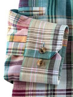 10-Taschen-Safarihemd Madraskaro Detail 4
