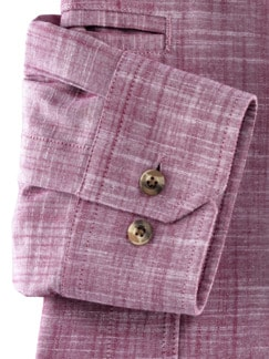 10-Taschen-Safarihemd Uni Beere Detail 4