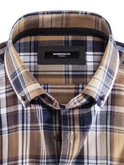 Flanell-Hemd Cashmere-Blend Beige/Braun Detail 3