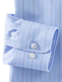 Extraglatt-Hemd Naturstretch Streifen Bleu Detail 4