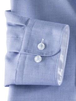 Extraglatt-Hemd Wechselkragen Struktur Blau Detail 4