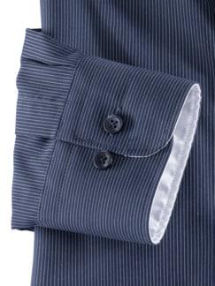 Extraglatt-Hemd Wechselkragen Navy/Weiß gestr Detail 4