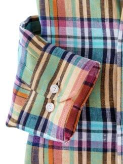 Irisches Leinenhemd Madraskaro Detail 4