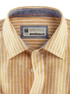 Irisches Leinenhemd Clubstr. Gelb Detail 3