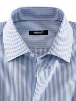 Extraglatt-Hemd Kent-Kragen Bicolor gestreift Detail 3