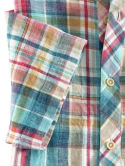 Oasen-Shirt Madraskaro Detail 4