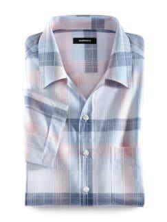 85-Gramm-Sommerhemd Blau/Koralle Detail 1