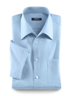 Extraglatt-Hemd Walbusch-Kragen Hellblau Detail 1