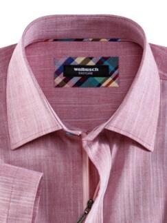 Reißverschluss-Hemd Easycare Uni Rot Detail 3