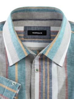 Leinenmix-Hemd Ablaufstreifen Detail 3