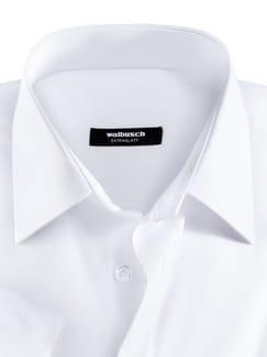 Extraglatt-Hemd Kent-Kragen Weiß Detail 3