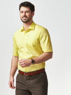 Extraglatt-Hemd Kent-Kragen Gelb Detail 2