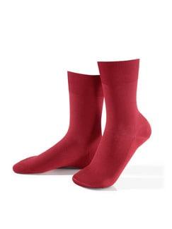 Klima-Poren Socke 2er-Pack Rot Detail 1