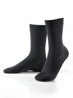 Pima-Cotton Socke 3er-Pack Anthrazit Detail 1