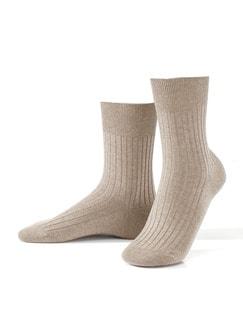 Baumwoll-Socke 2er-Pack Sand Detail 1