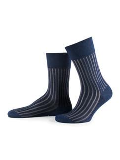 Falke Socke Uni Indigo-Grey Detail 1