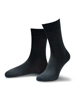 Pima Cotton Socke 2er-Pack Anthrazit Detail 1