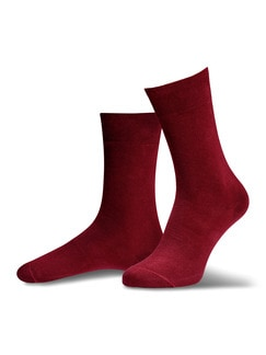 Pima Cotton Socke 2er-Pack Bordeaux/Terra Detail 1