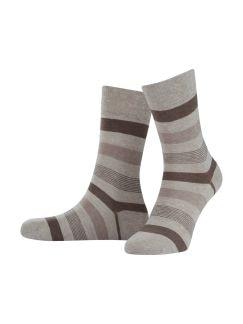 Tropical Streifen-Socke 2er-Pack Beige Melange Detail 1