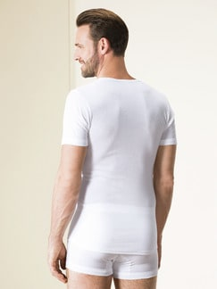 Masterclass-Rundhals-Shirt 2er-Pack Weiß Detail 4