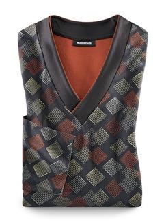 Schlafanzug Extrafein Gewürzfarben/Schwarz Detail 1