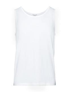 Cotton-Stretch Unterhemd 2er-Pack Weiß Detail 1