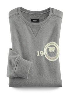 Sweater Soft Touch Grau Melange Detail 1