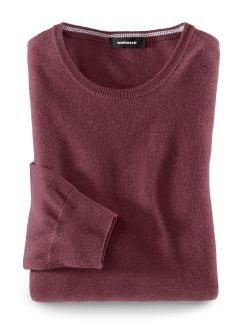 Smart Wool Pullover Bordeaux Detail 1