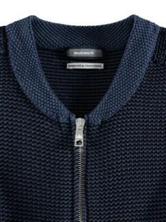 Strick-Blouson Atelier Jeansblau Detail 4