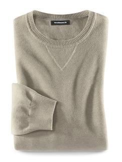 Reiskorn-Pullover Cottonblend Sand Melange Detail 1