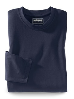Langarm-Shirt Rundhalsausschnitt Marine Detail 1