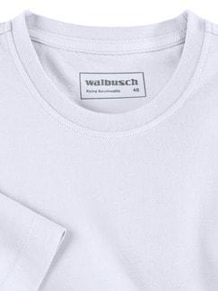 T-Shirt Rundhalsausschnitt Weiß Detail 3