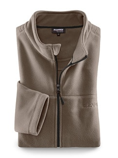 Klepper Funktions-Fleecejacke Dunkelbeige Detail 1
