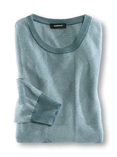 Francesco Morri Jacquard Pullover Aqua/Blau Detail 1